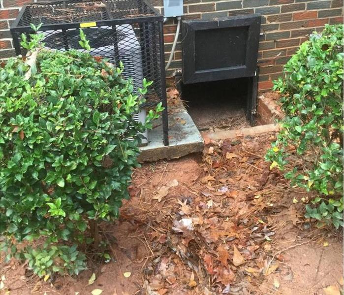 Storm Water Finds Its Way Into Crawlspace