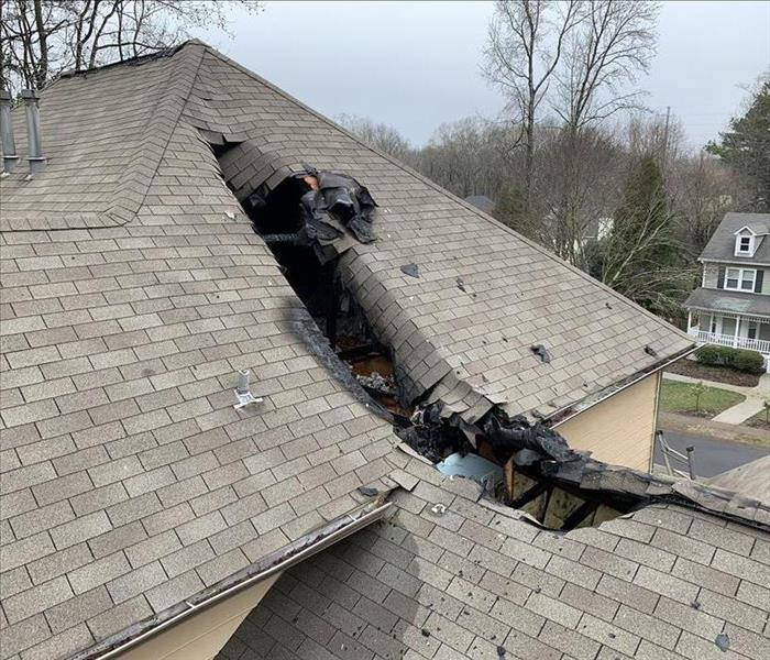 Storm Damage Emergency Roof Tarping and Board-up in Kennesaw Georgia