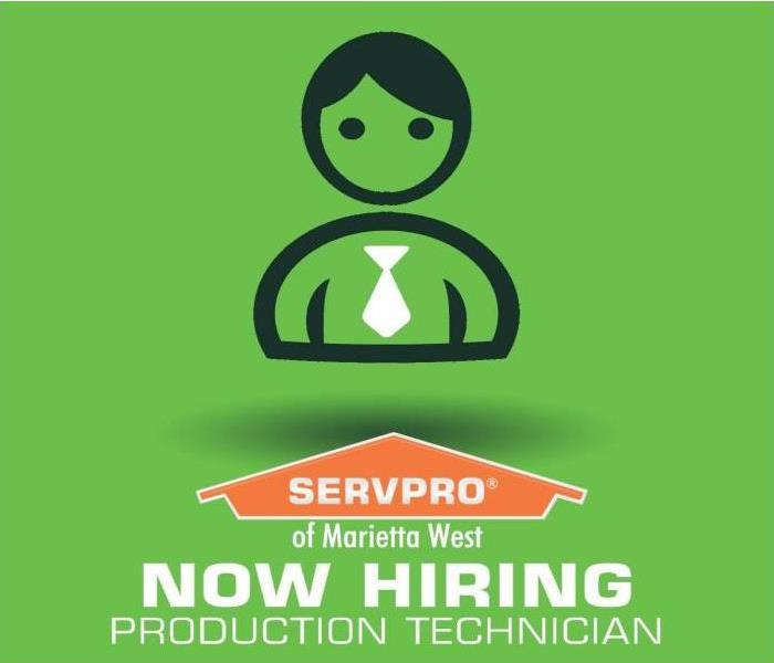 SERVPRO of Marietta West is hiring Water & Fire Restoration Technicians