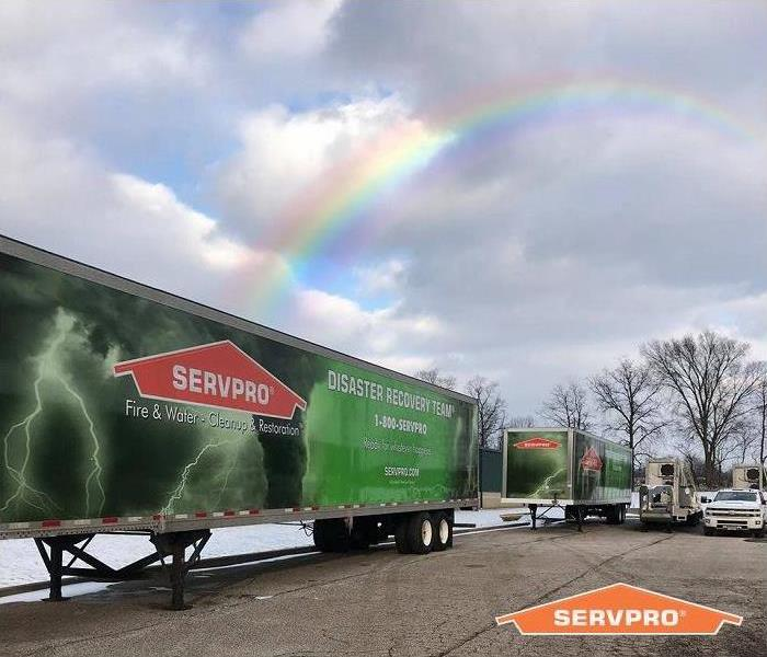 SERVPRO disaster recovery team trailer