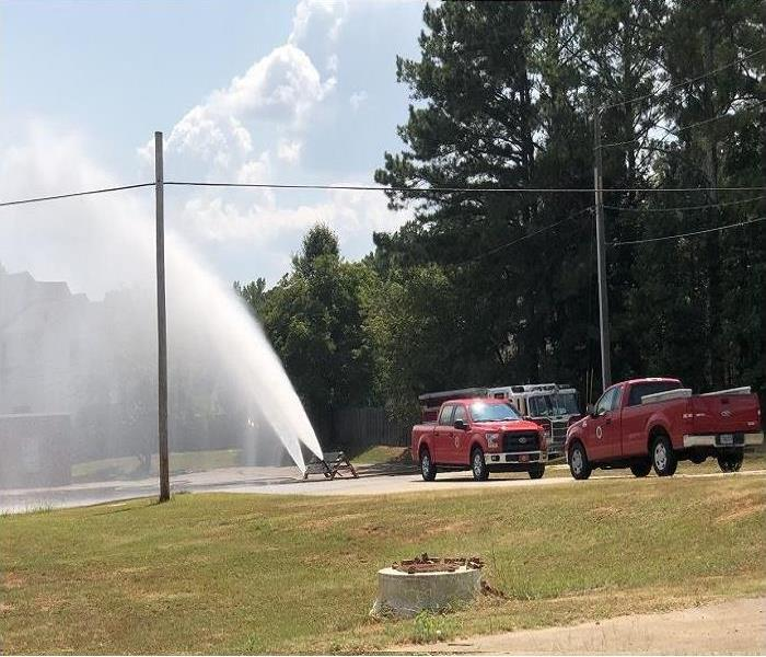 Cobb County Fire Department testing fire fighting equipment