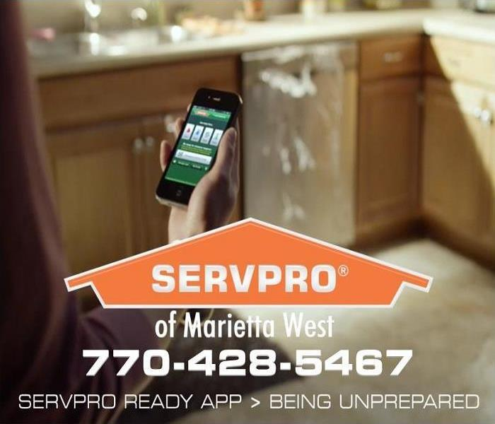 customer calling SERVPRO of Marietta West because of dishwasher overflow